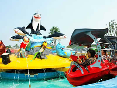Fight shark island kiddie rides