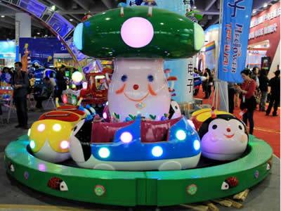 Ladybug theme park ride for children